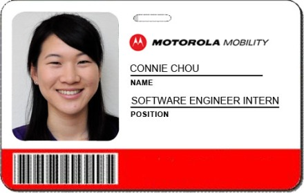 Motorola Mobility Intern: Connie Chou